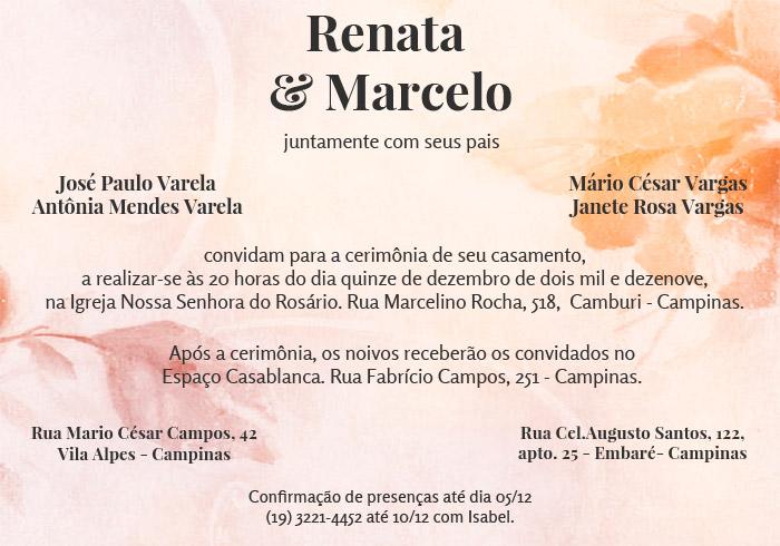 Convite De Casamento Grátis Para Editar E Imprimir