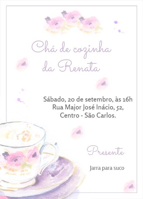 Convite De Chá De Cozinha Grátis Para Imprimir