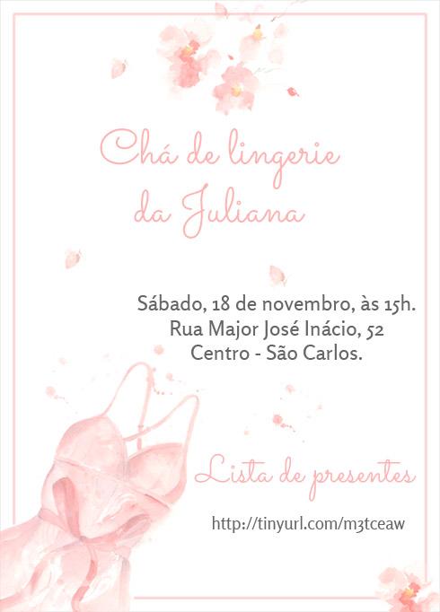 Convite De Chá De Lingerie Grátis Para Imprimir